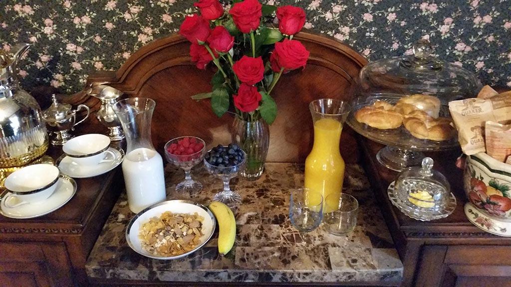 Bridgeford House Complimentary Continental Breakfast