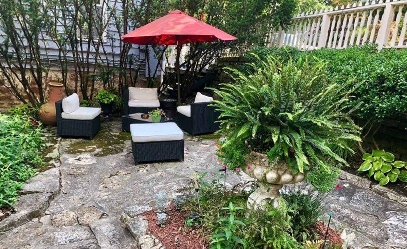 Brideford House Secret Garden Sitting Area